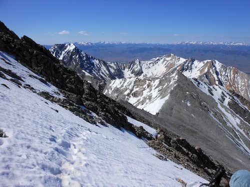 Snowfield on Borah