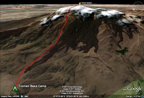 Volcan Tromen Route
