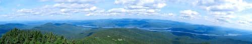 Snowy Mountain Summit Panorama