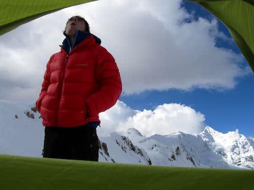 Altitude Sick at Ranrapalca High Camp