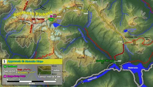 Pickets Approach 5 - Stetattle Ridge