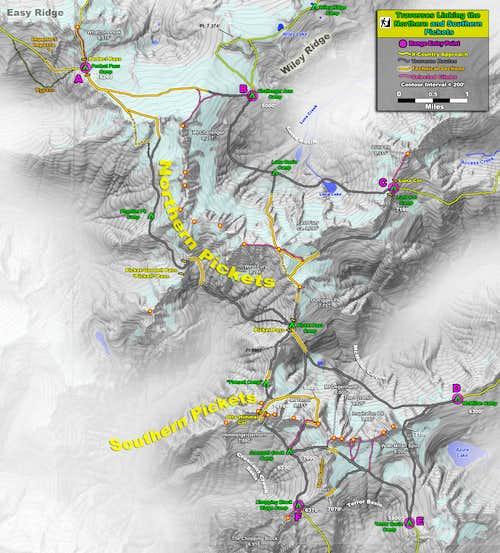 Pickets Map - N-S Range Linkups