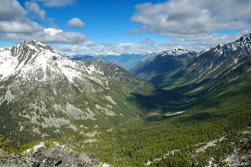 Enterprise Creek Valley from Tanal Peak