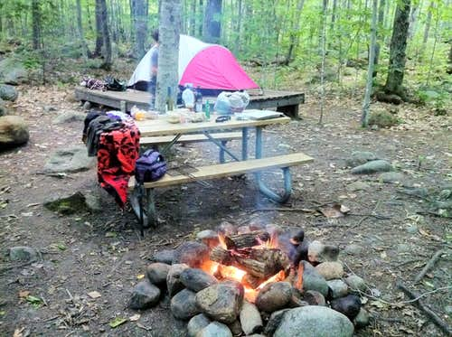 Dry River camping White Mts NH
