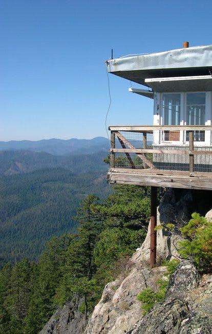 The lookout at the summit of...