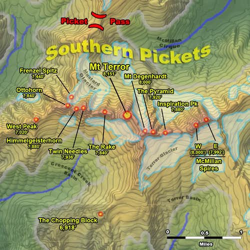 Pickets Range - Southern Summits