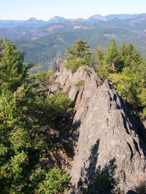 North ridge of Acker Rock as...