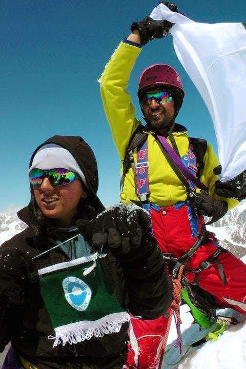 Mirza & Samina Baig on the summit