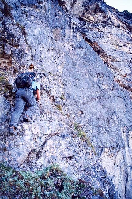 Sergio Verdina climbing...