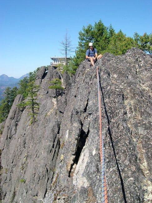Belaying from the end of a...