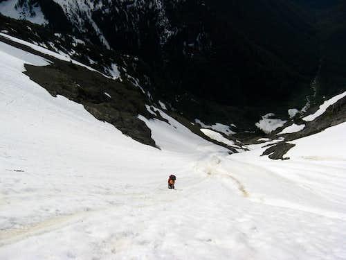 Steep Snow on Jack Mt.