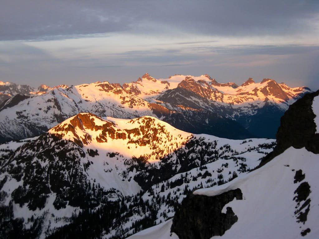 Looking towards Snowfield at Sunrise