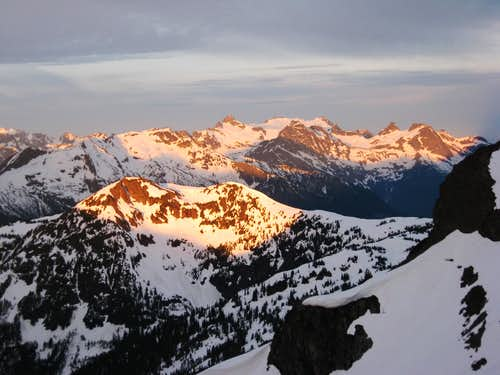 Looking towards Snowfield at Sunrise