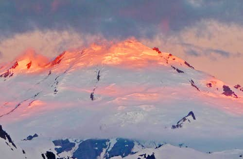 Sunrise on Mount Baker