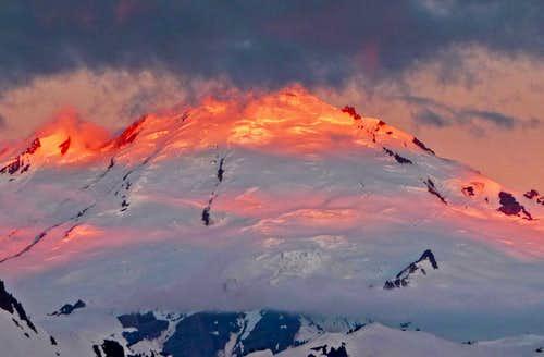 Sunrise on Mount Baker