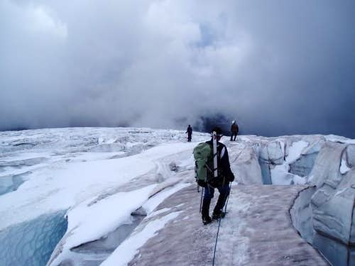 Crevasses on Easton glacier....