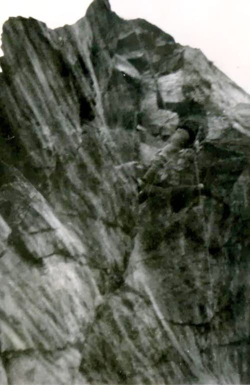 Rappeling in the cliff 1966