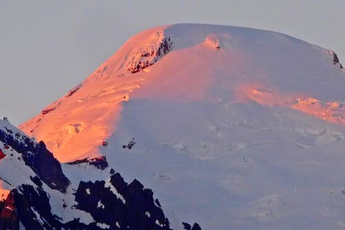 Alpenglow on the Summit of Mount Baker