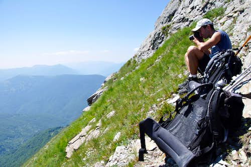 Kabash: First ascent - Small rest before the final push