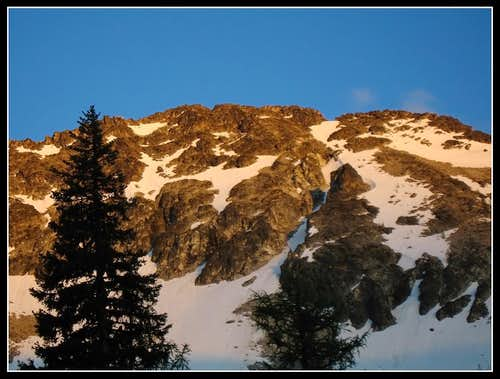 Alpenglow on Cheops