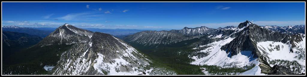 Courtney Peak Summit Panorama
