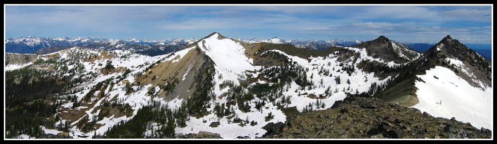 Grey Peak summit panorama