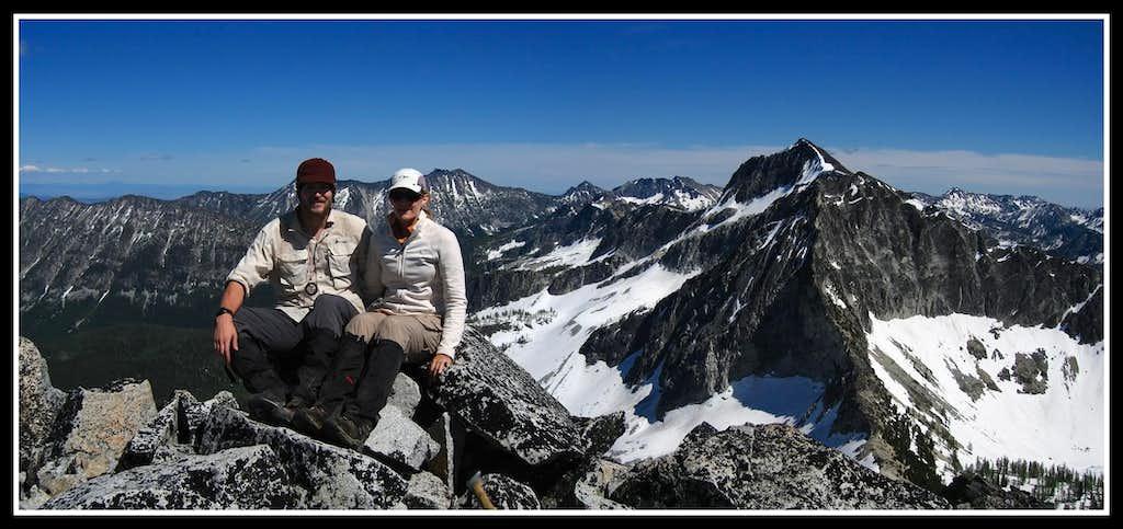 Atop Courtney Peak
