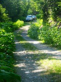 Mt. Persis -- Northwest Ridge -- trailhead parking area