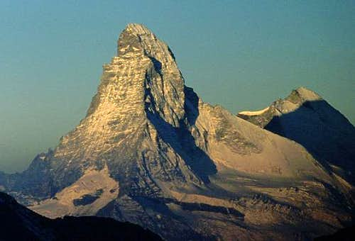 first sunlight on Matterhorn...