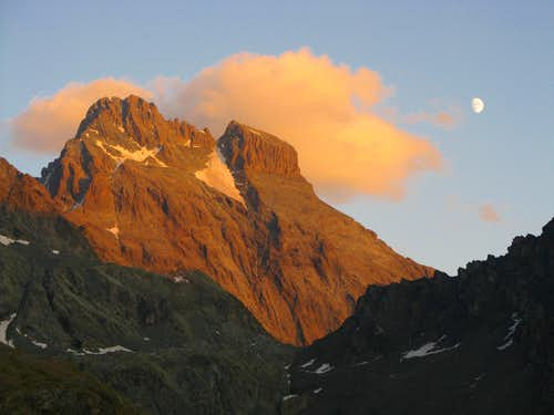 Sunset over Monte Viso