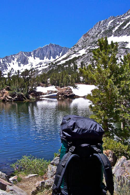 My back pack and Long Lake