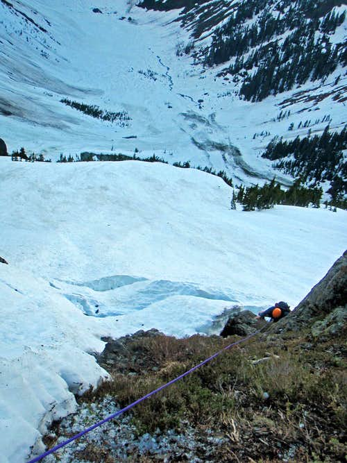 Climbing High Up on Mount Shuksan