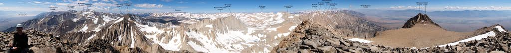 Mt Williamson Summit Panorama (360°)