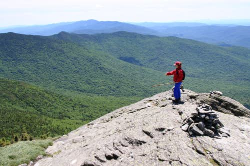 Taking in the views on top of Camel\'s Hump