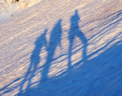 Three Climbers Shadows