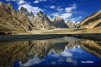 Great Trango (6286m) Cathedral Tower (5866m) Lobsang Spire (5707m)