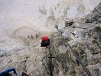 Einstiegswand Klettersteig...