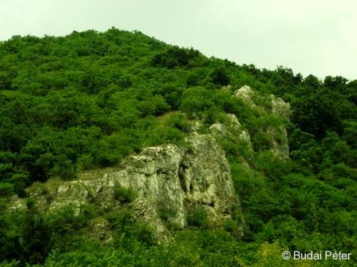 Rocky outcrop at the feet of Pilis