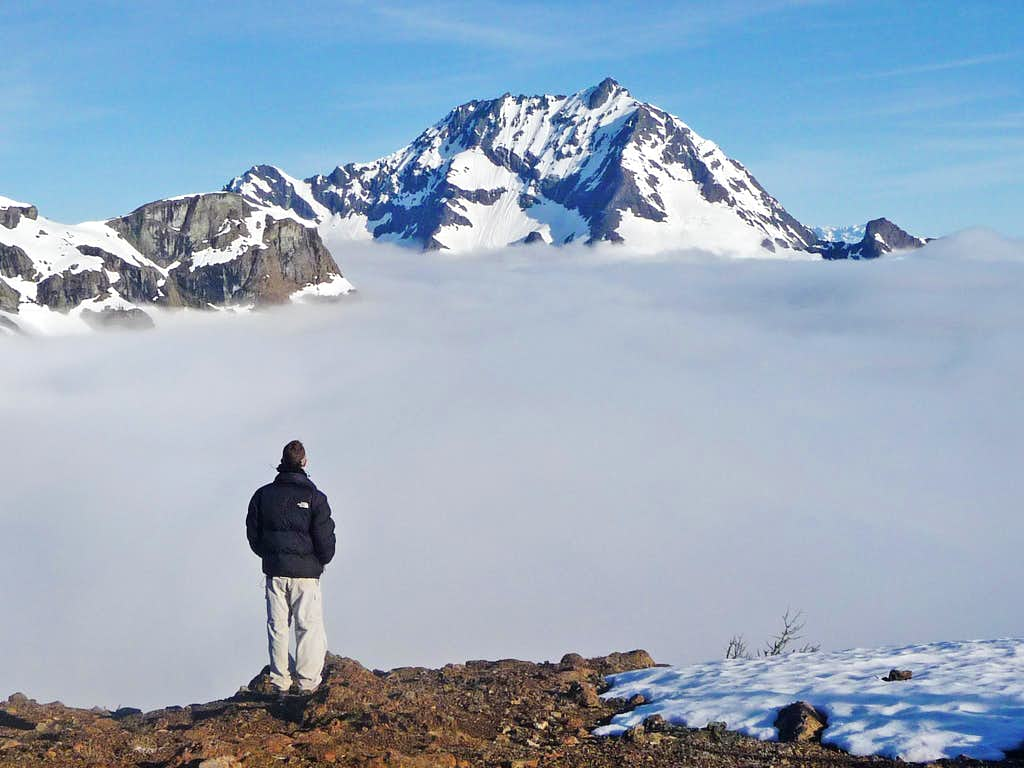 Yem over looking Jack Mountain Above the Clouds