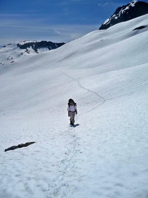 Traversing the Lower Section of Crater Mountain
