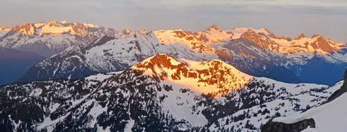 Sunrise on the North Cascades