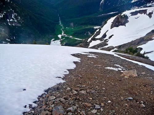 Steep Slope Below