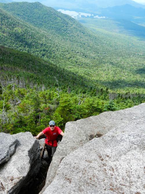 Climbing Hough Peak