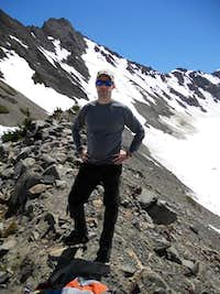 EricD on Rock Outcropping, Blue Glacier, Mt. Olympus