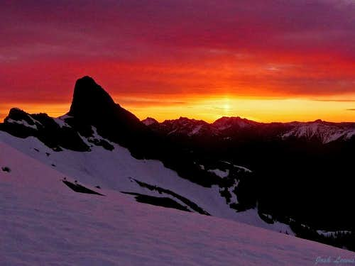 A Beautiful Sunrise on Jack Mountain