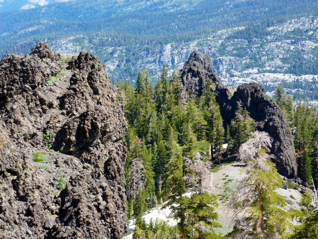 View down the Thunder Mountain Trail