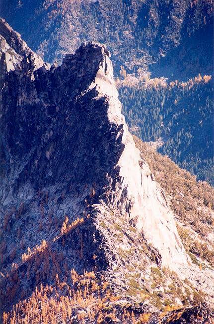 Edge on view of West Ridge of...