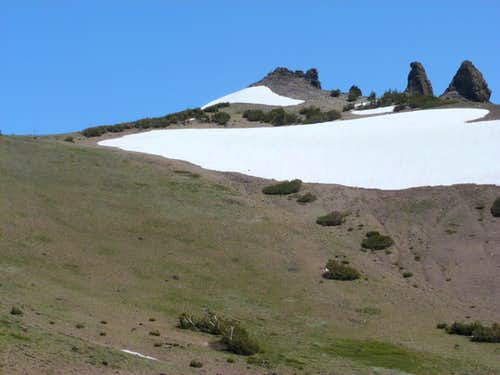 Final approach to Thimble Peak