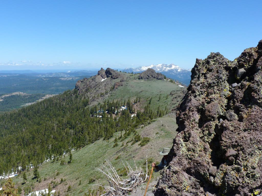 View to the north along the Thunder Mountain Traill