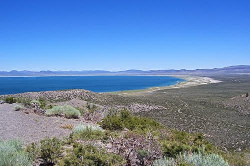 Mono Lake seen from the Rim Trail